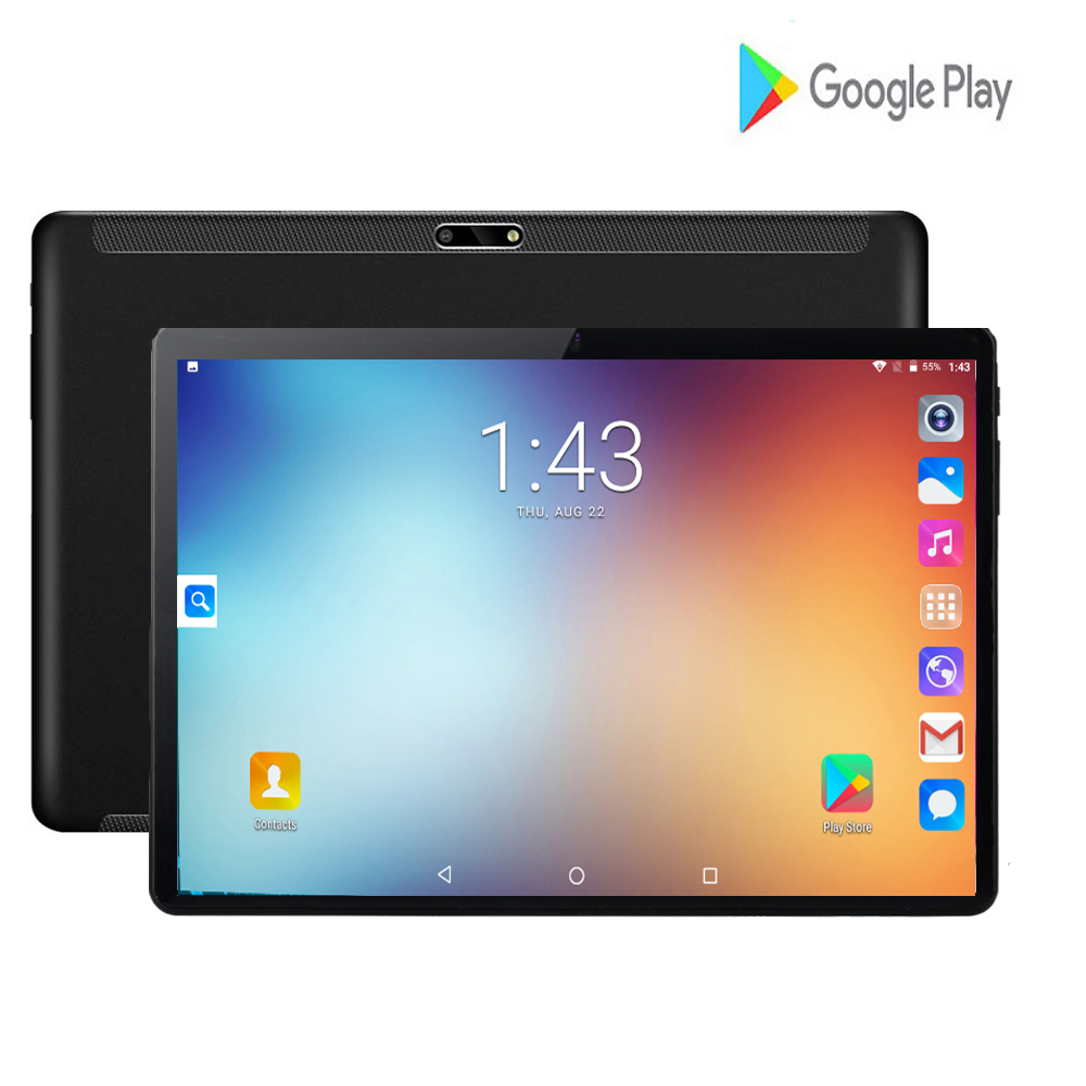 New Google Tablet 10 Inch Android 7.0 Quad Core 2GB RAM 32GB ROM 1280*800 IPS Kids Tablets PC 10 Google Play Dual SIM Card Pad