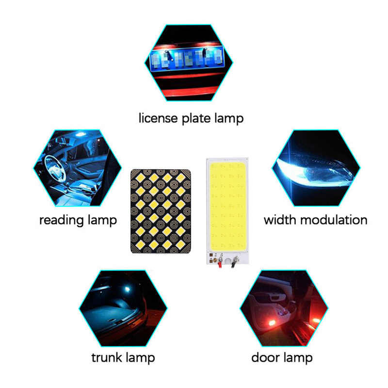 Big Promotion T10 COB 12 24 36 48SMD Festoon Dome BA9S 3Adapter LED Light Panel Car Interior Reading Map Parking Bulb Lamp DC12V