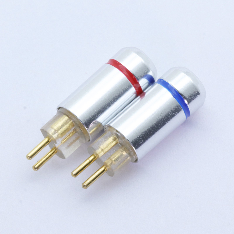 2pcs 2pins MMCX Pin Plugs Earphone Connector, high quality pure copper with gold plated