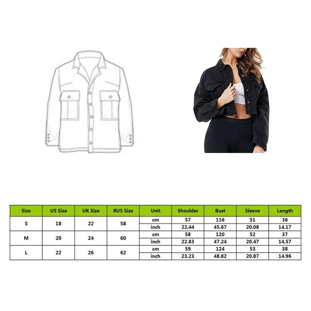 New Black Drop Shoulder Long Sleeve Frayed Hem Ripped Crop Denim Jacket Women High Street Single Breasted Solid Short Jackets 6