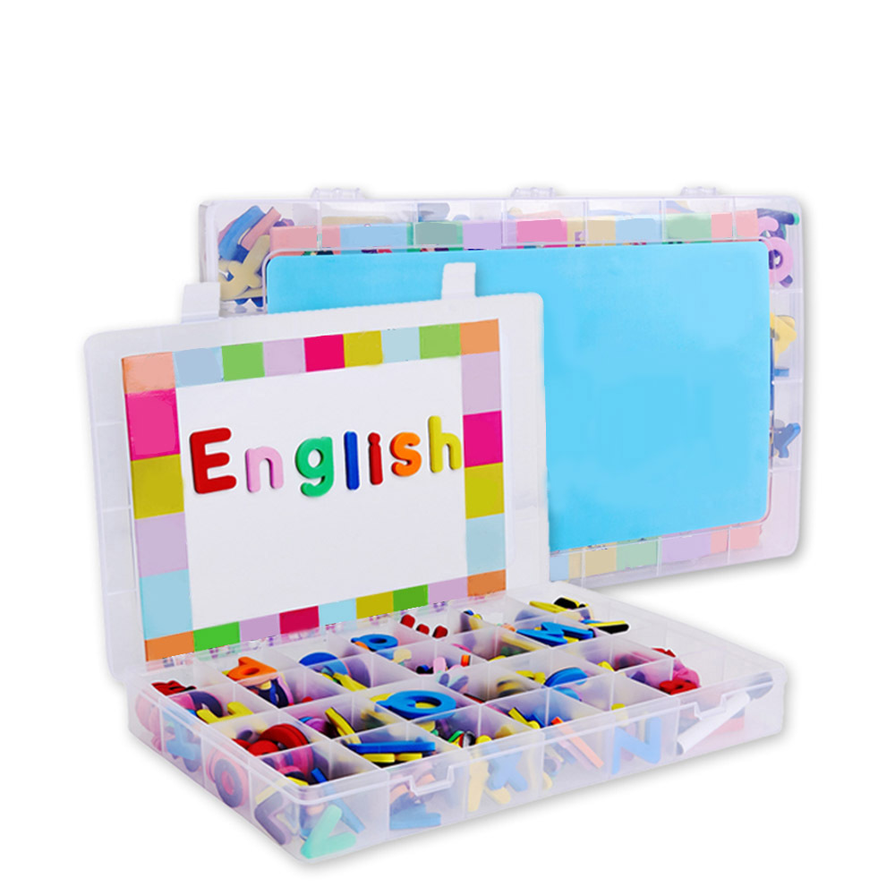 238Pcs Uppercase/lowercase Letters Magnetic Symbols Kit With Double-Side Magnet Board Educational Alphabet Kids Learning Toys