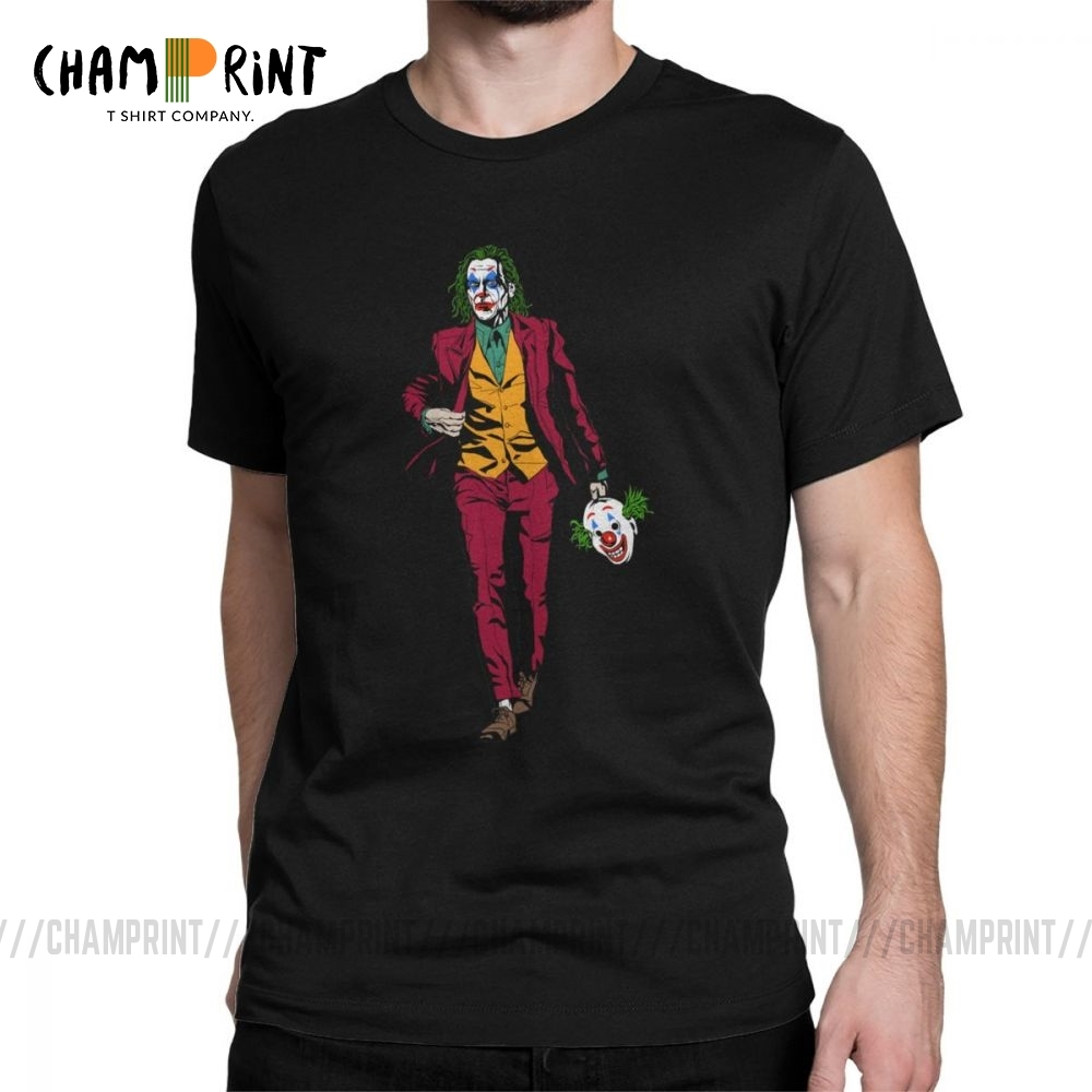 Mr Fleck Joker T-Shirt Men Suicide Squad Funny Clown Cool Cotton Tees Classic Gotham Villain T Shirt 4XL 5XL 6XL Tops