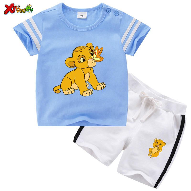 Kids Clothes Set Boys Fashion Suit 2020 Summer Cartoon Tshirt+short Pant 2Pcs Baby Girl Clothing Boy Clothes Casual Sport Outfit
