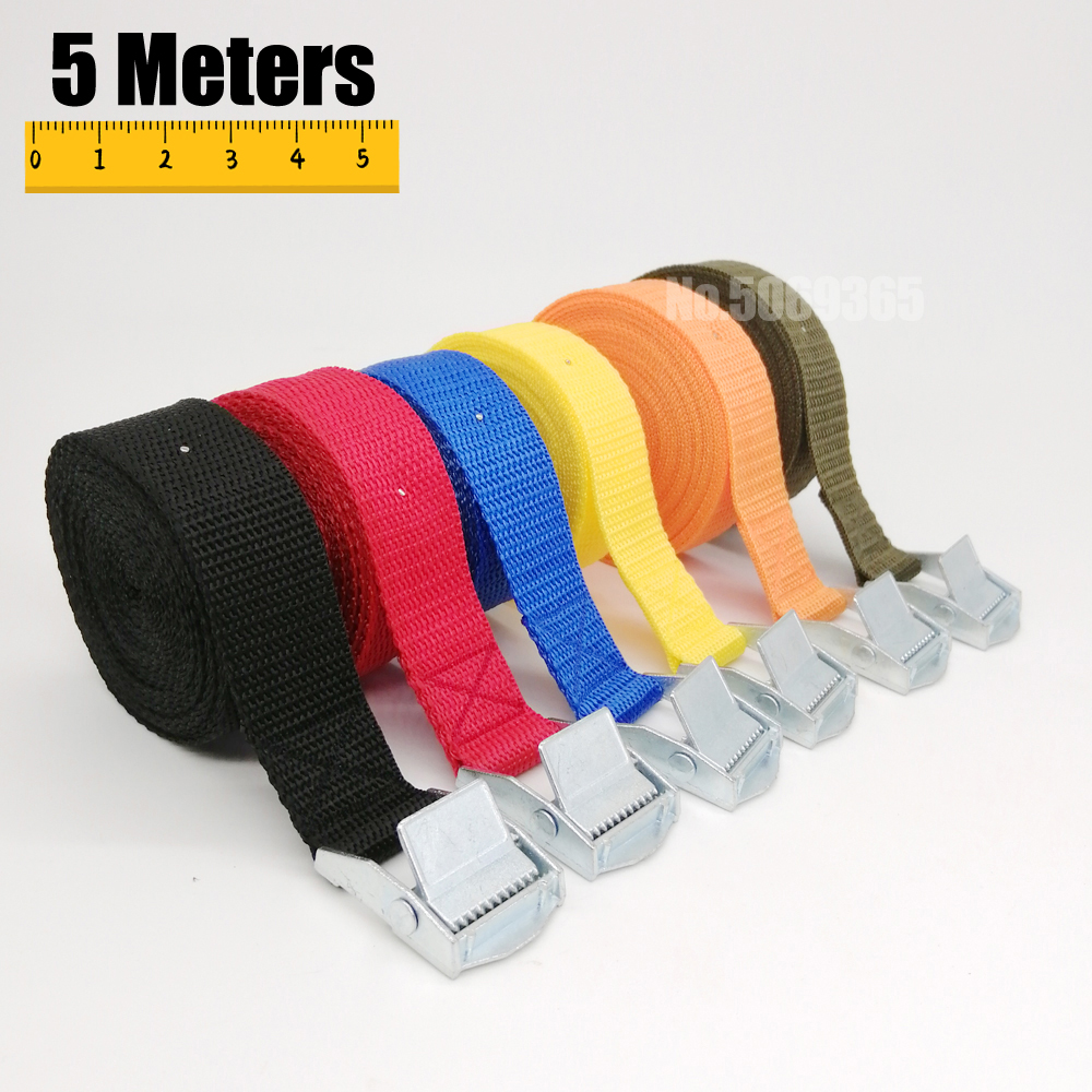 5 Meters Auto Luggage Trailer Fixed Strap Rope Quick Release Cam Buckle Tie Down for Motorcycle Bike Cargo Straps Tension Rope(China)