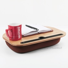Bamboo Lap Table Bed Laptop Pillow Table Cup Holder Multifunctional Mobile Sofa Car Lazy Shelf Portable Single Computer Table