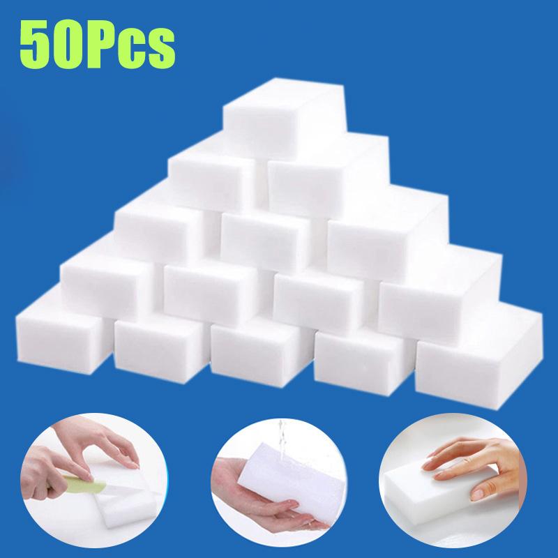 10/20/50Pcs Melamine Sponge Magic Sponge Eraser 10x6x2cm White Cleaning Sponges For Kitchen Bathroom Accessories Cleaner
