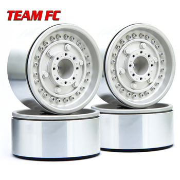 4PCS Metal 1.9 Beadlock Wheel Rim new design Wheel Hub for 1:10 RC Crawler Axial SCX10 II 90046 AXI03007 TRX-4 Tamiya MST 4pcs metal wheel rim beadlock wheel hub 1 55 inch rc car aluminum alloy black wheel rim for 1 10 rc crawler car model toy