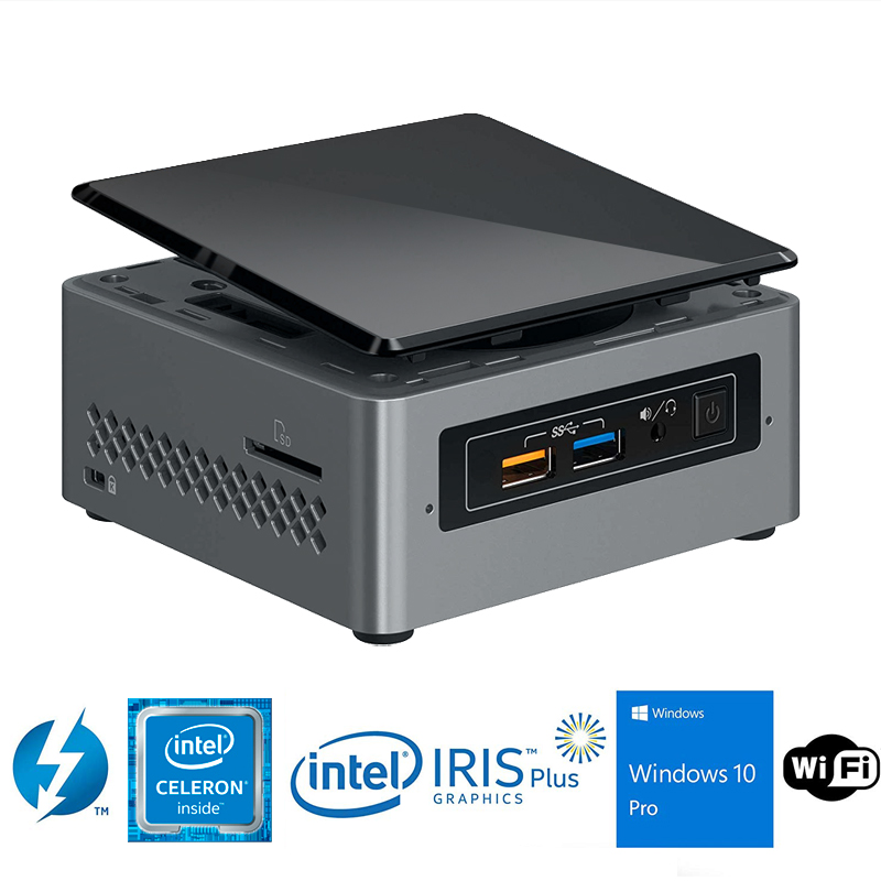 Intel NUC NUC6CAYH Mini PC/HTPC Intel Quad-Core J3455 Upto 2.3GHz DDR3 WiFi Bluetooth 4k Support Dual Monitor Capable Windows 10
