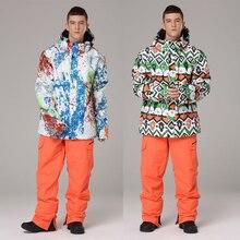Snowboarding-Suits Skiing-Jackets Winter Waterproof Warm Men Pants Ski-Sets And Thick