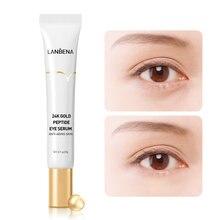 LANBENA – sérum au Peptide d'or 24K pour les yeux, lignes fines, hydratant, resserre la peau, réduit les cernes et les poches, Massage de la tête, 20g