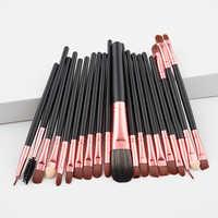 20ps cbrown/oro rosa kit de herramientas de maquillaje delineador de ojos natural-cepillos de belleza de pelo sintético bueno brochas de herramientas de maquillaje de calidad