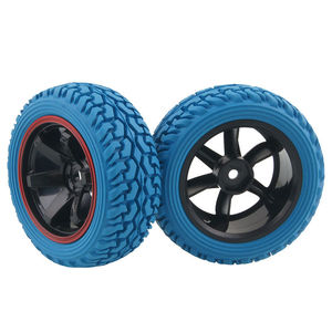 Image 5 - RC 701A 8019 Rubber Tire&Plastic Wheel Rim For HSP HPI 1/16 On Road Rally Car
