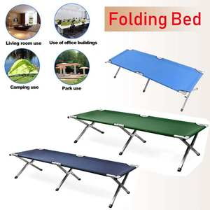 Chair-Bed Folding Military Fishing Camping with Carry-Bag Hiking Cot Oxford Outdoor Steel-600d