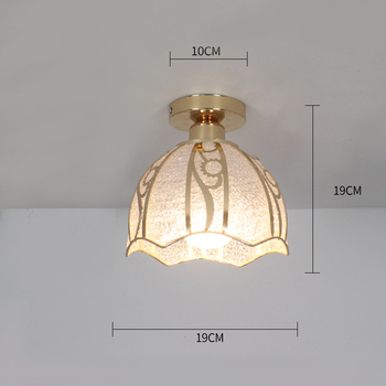 Ceiling lights Minimalist Retro Ceiling Lamp Glass E27 industrial decor  lamps for living room Home Lighting Lustre Luminaria 19