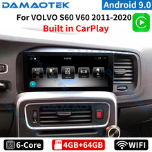 DamaoTek 8.8 inch Android 9.0 car radio navigation For Volvo S60 V60 2011-2020 Headunit car stereo dvd player android system
