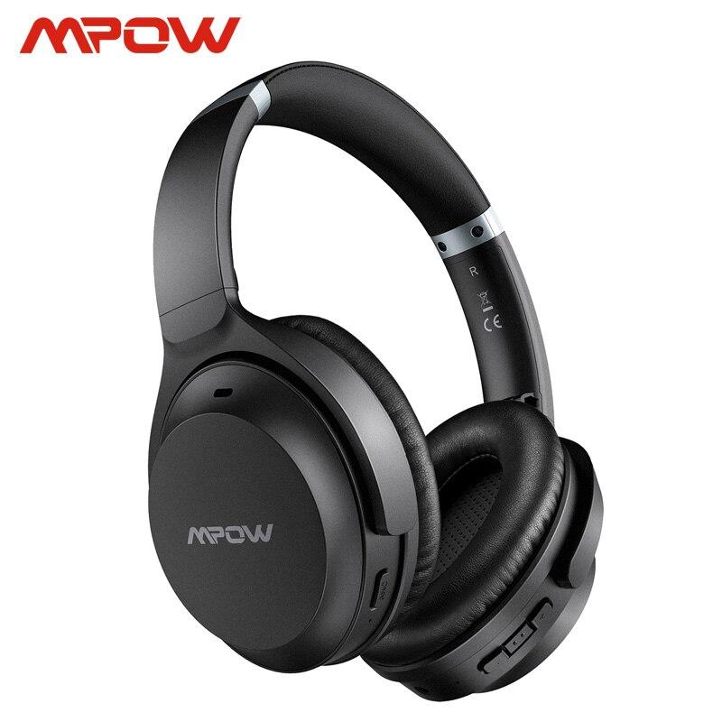 Mpow H12 IPO активные шумоподавляющие наушники 40 часов воспроизведения CVC 8,0 Mic Bluetooth 5,0 беспроводная гарнитура для iPhone Huawei Xiaomi