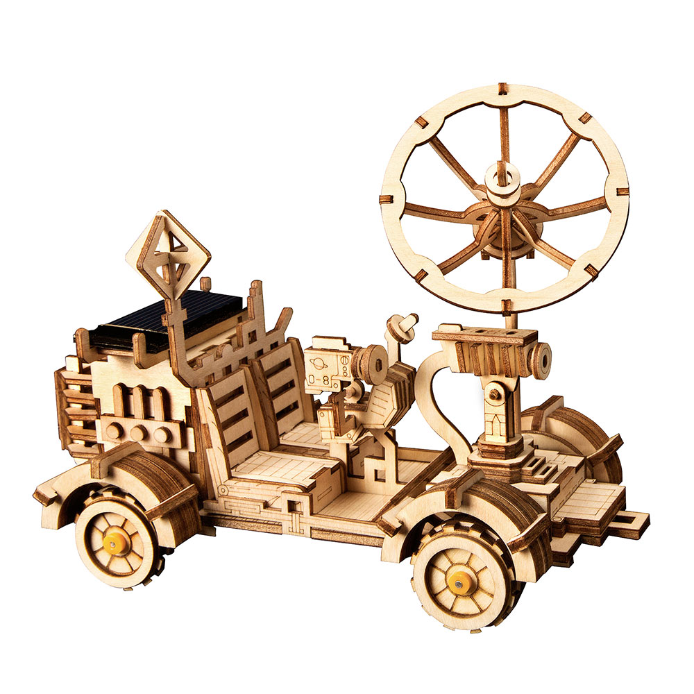 Image 2 - Robotime ROKR DIY Solar Energy Toys Model Building Kit Space Hunting Assembly Toys For Children KidsModel Building Kits   -