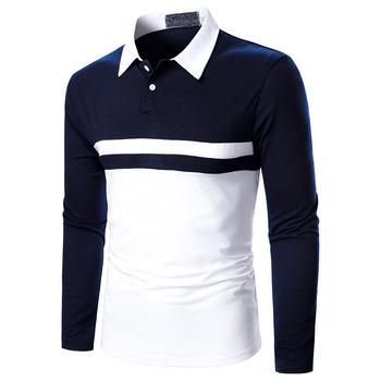 Męskie koszulki Polo 2020 New Arrival jesień wysokiej jakości haft koszulka Polo Casual koszulki Polo męska koszulka polo z długim rękawem polo tanie i dobre opinie Pełne CN (pochodzenie) REGULAR Na co dzień NONE Stałe POLIESTER oddychająca Coloring ordinary Spot CDB32 leisure time