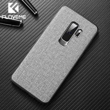 Floveme Zachte Doek Case Voor Samsung S10 S8 S9 Plus S7 Note 9 8 10 Pro Luxe Telefoon Case Voor samsung Galaxy A50 A70 A40 A30 Cover(China)