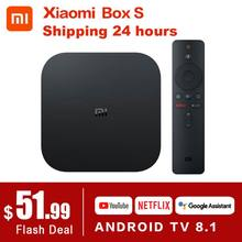 Asli Global Xiaomi Mi TV Box S 4K HDR Android TV 8.1 Ultra HD 2G 8G WIFI google Cast Netflix Set Top Mi Kotak 4 Media Player(China)