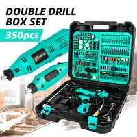2pcs mini electric drill accessories DIY Woodworking Power Tool Variable Speed Mini Rotary Tool Mini Drill Grinder