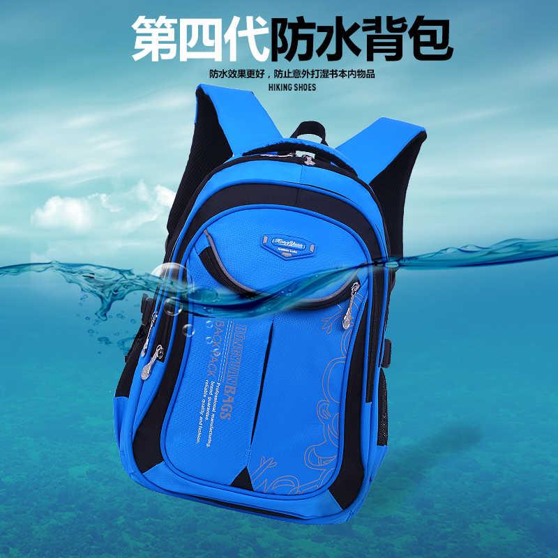 Новые детские школьные рюкзаки для девочек и мальчиков, нейлоновый водонепроницаемый детский Ранец, школьный рюкзак высокой емкости, студенческий рюкзак