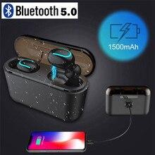 Mini auricolari Wireless Bluetooth 5.0 per telefono cellulare Oneplus5 5T 6 6T 7 7pro con Power bank da 1500mAh