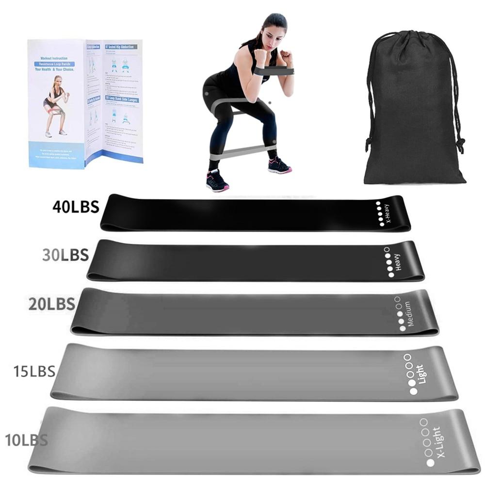 Elastic Resistance Fitness Bands Set = 1MRK.COM