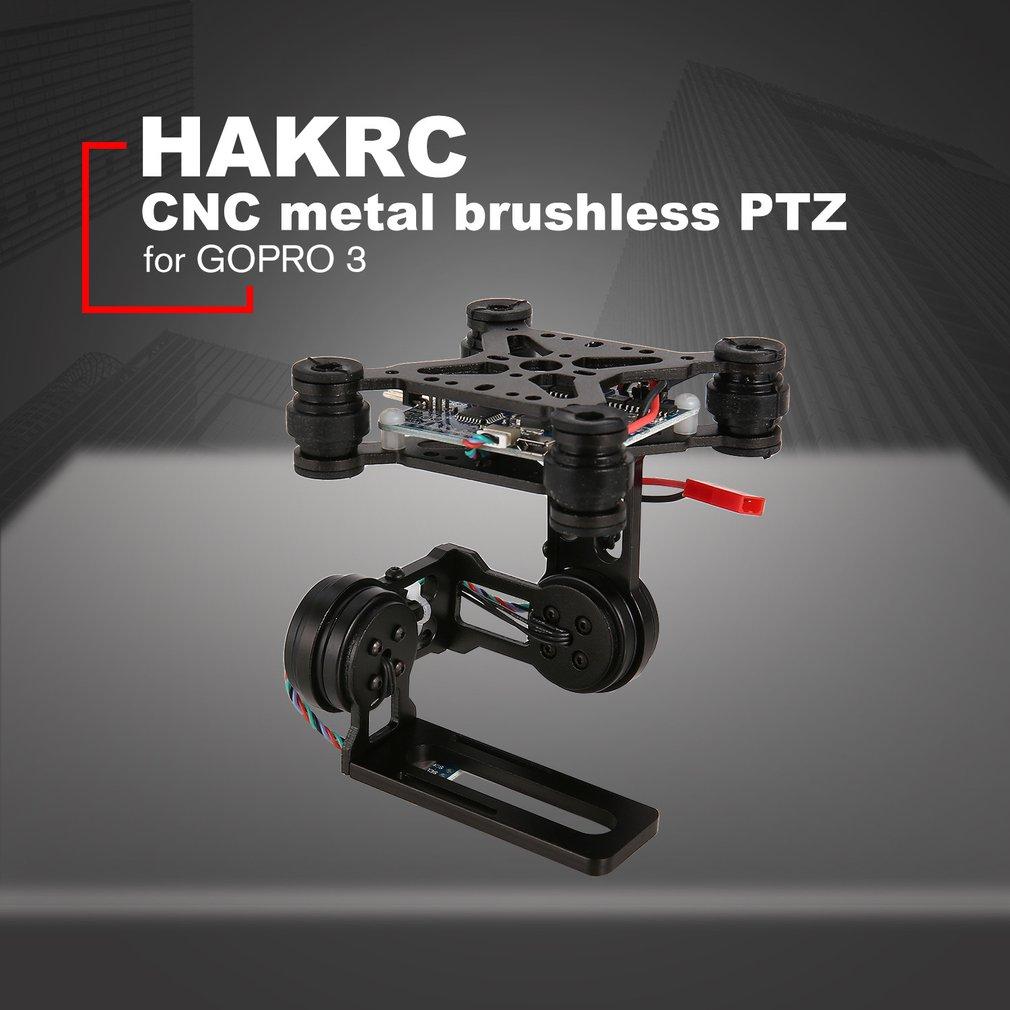 lowest price HAKRC 2-Axis CNC Metal Brushless BGC2 2 PTZ Control Panel Gimbal Stabilizer for RC Drone Camera Gopro3 DJI Phantom