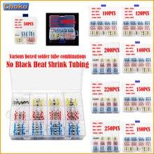 Conectores de alambre de soldadura termorretráctil, terminales eléctricos a tope impermeables aislados, 50/80/200/250 Uds.