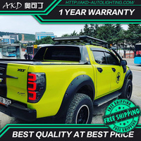 AKD tuning cars Tail lights For Ford Ranger 2.2 Ranger 3.2 2016 Taillights LED DRL Running lights Fog lights angel eyes Rear