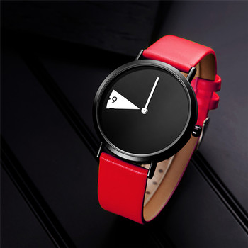 SINOBI SK Female Brand Quartz Wrist Watches Women Clock Fashion Creativity Red Leather Casual Fashion Watch Ladies Relojes Clock image
