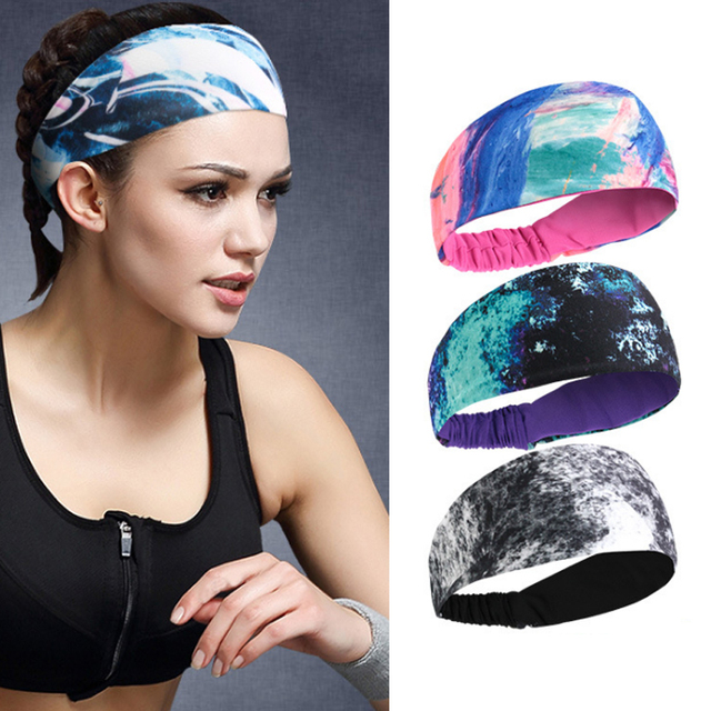 yoga hair bands Sports Headband Lycra Breath and Sweat Absorption Antisweat Belt Basketball Fitness Running Headband