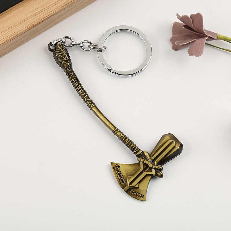 Avengers Gantungan Kunci Thor Kapak Palu Mjolnir Infinity Perang Dunia Gelap Key Finder Tas Gantungan Kunci Perhiasan Aksesoris