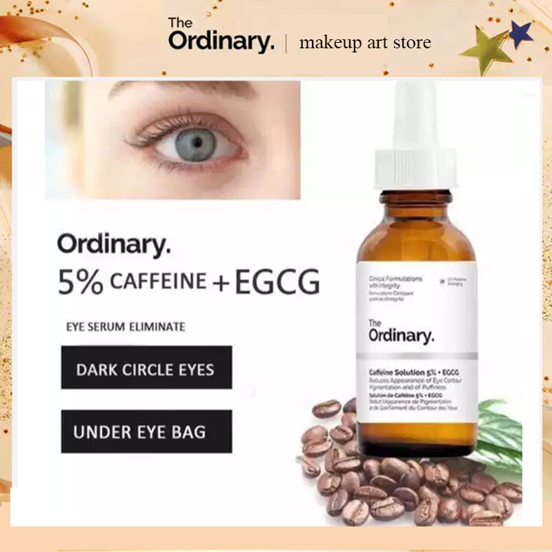 30ml The Ordinary Caffeine Solution 5% + EGCG Skin Care Set Eye Patches For Edema Whitening Face Serum Remove Dark Spots Freckle