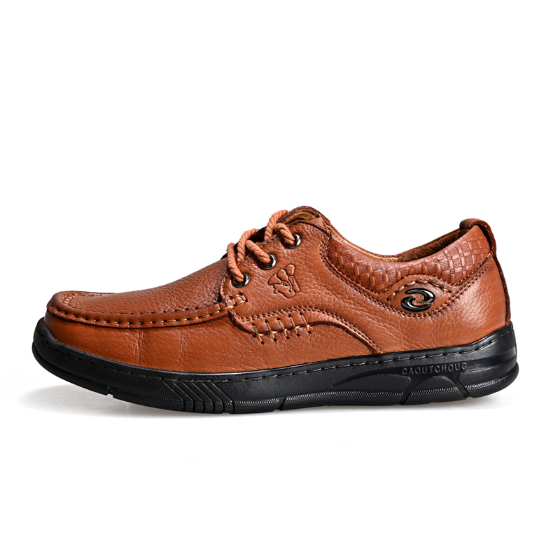 Novo masculino casual couro genuíno sapatos de