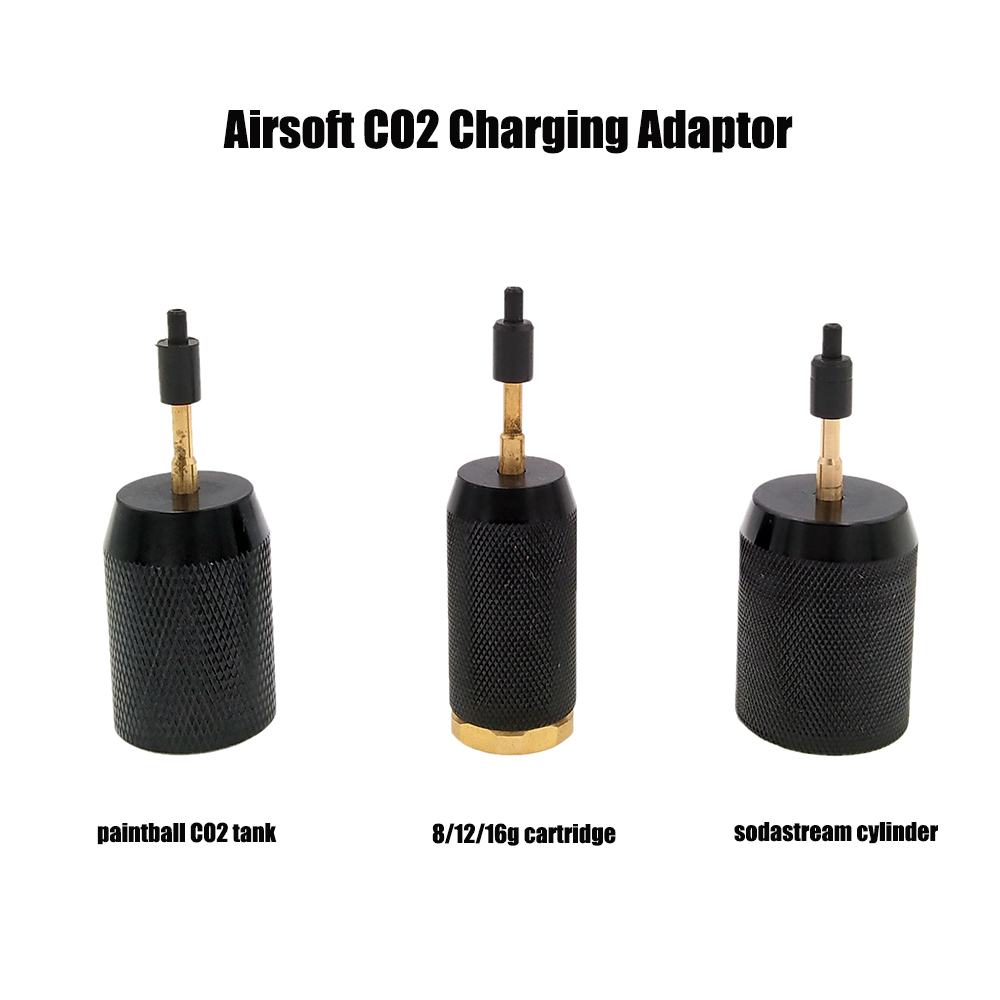 Airsoft CO2 Refill Charging Adapter Adaptor To Paintball Tank / Disposable Cartridge / Sodastream Cylinder