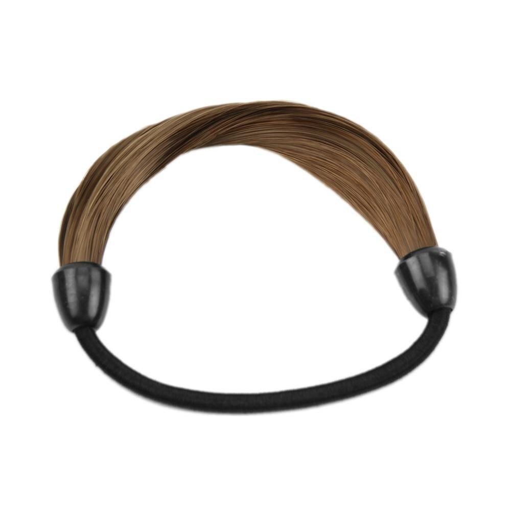 Модный корейский парик, заколки для волос, резинка для волос - Цвет: Кофе