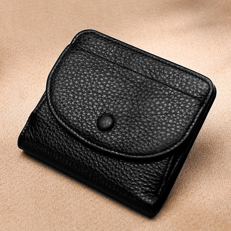 Genuine Leather Women Wallets Coin Purse Short Female Money Bag High Quality Mini Walet Small Card Holder Carteira Feminina