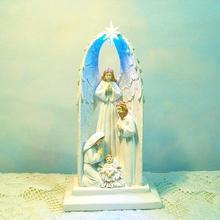 Иисус Христос смолы украшения подарок христианский семейного Рождества Статуя Девы Марии Статуя Иисуса Девы Марии фигурка