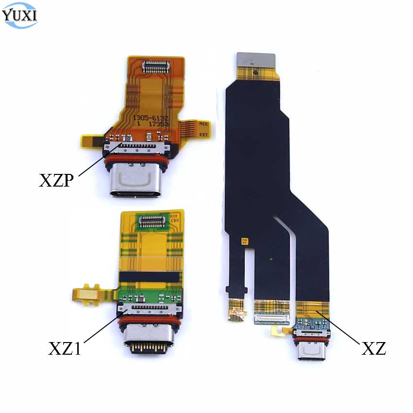 YuXi 1pc USB Charging Port Board For Sony Xperia XZS XZ Premium G8142 XZ1 Charger Dock Socket Connector Module Flex Cable
