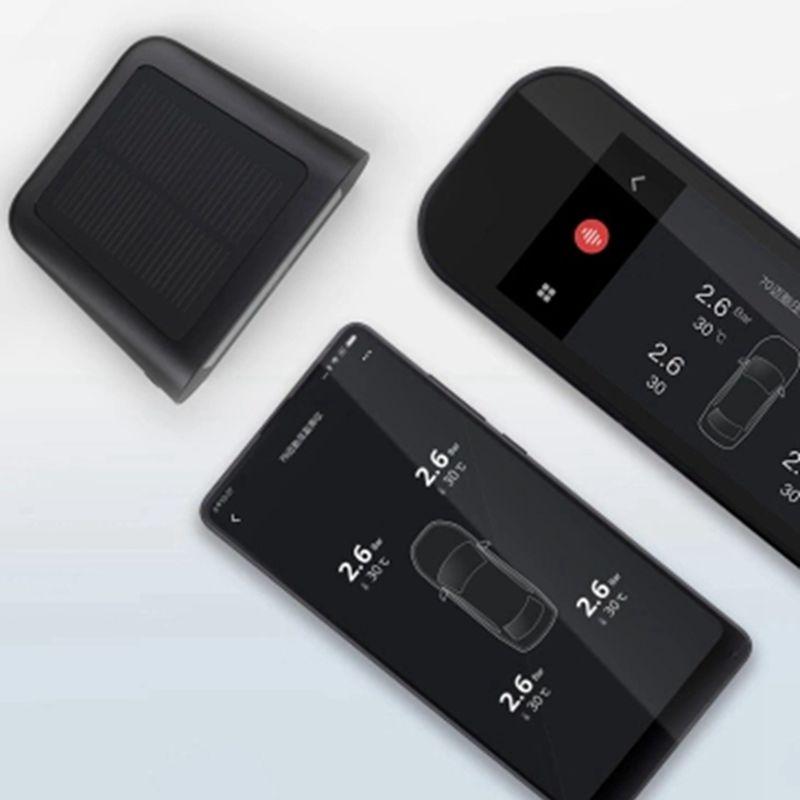 Xiaomi 70mai английское приложение Тестер давления в шинах монитор солнечной энергии 4 встроенных inTPMS система датчиков сигнализации с автомобил...