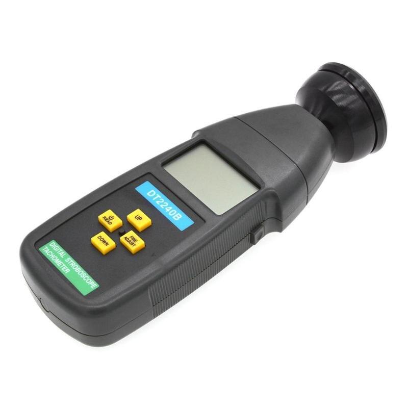 Tachymètre Stroboscope de voiture DT2240B numérique LCD sans Contact Flash Stroboscope tachymètre compteur photoélectrique compteur de vitesse testeur