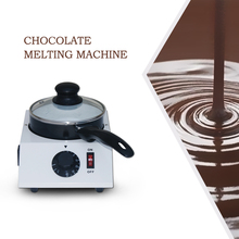 Mini Electric Chocolate Melting Pot Single Ceramic Non-Stick Pot, Tempering Cylinder Melting Pan 1.25kg Capacity cs 2 commercial 2 pot chocolate melting pot electric chocolate melting pot domestic chocolate melting pot 2 2l capacity 220v