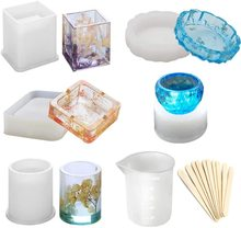 Epoxy Resin Silicone Molds Candle Holder Mould Casting DIY clay fondant Hand Making Craft Mold for Coaster Ashtray Soap Jewelry 2019 new multi function storage mobile phone holder pen holder silicone clay mould epoxy resin decorative craft diy clay molds