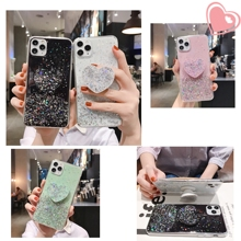 Glitter StarrySky Heart Holder Soft Phone Case For