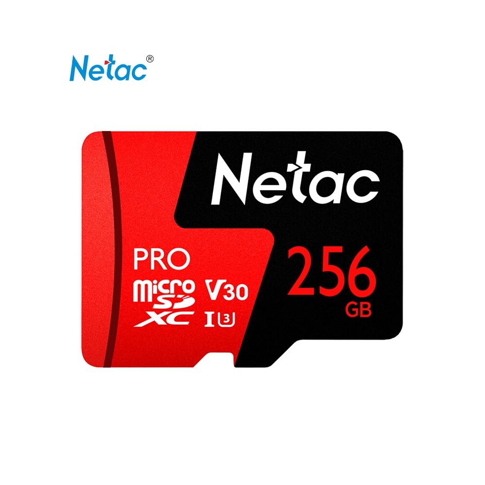 Original Netac P500 Pro 256GB 128GB 64GB Micro SD Card Up To 100MB/s U3 V30 P500 32GB 16GB TF Flash Memory Card SDHC SDXC Card