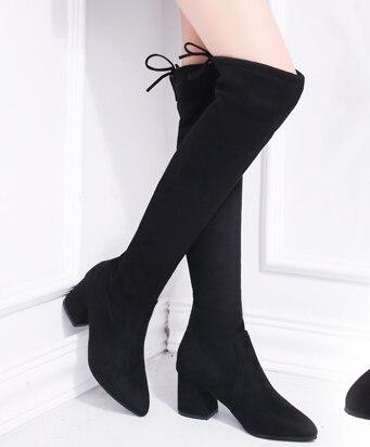Giày Nữ Bằng Sáng Chế Da Cao Overknee Giày Dài Giày
