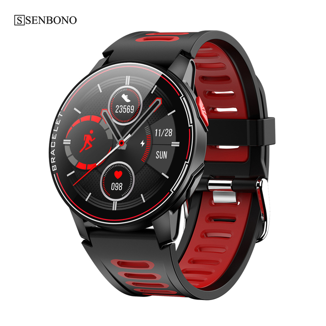 $ US $23.65 SENBONO S20  IP68 Waterproof Smart Watch Fitness Tracker Heart Rate Monitor Smart Clock Men Women New Smartwatch For Android IOS