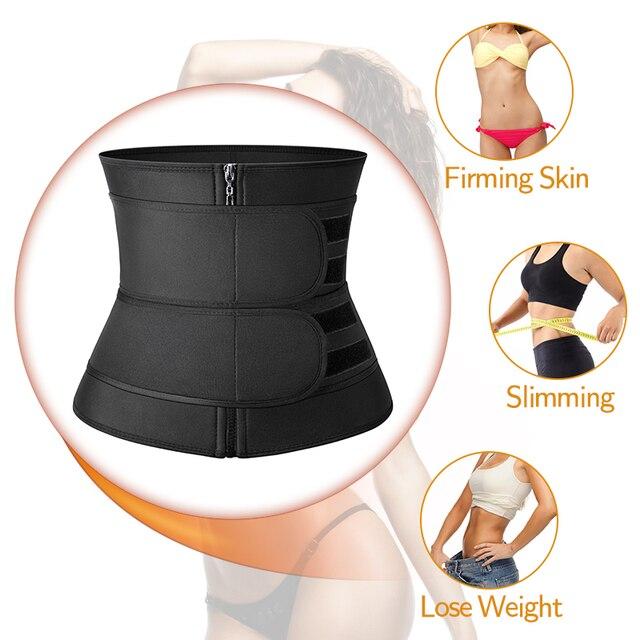 Waist Trainer Sauna Sweat Slimming Belt Modeling Strap for Women Weight Loss Body Shaper Workout Fitness Trimmer Cincher Corset 1